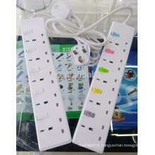 5 way 13 A BS electrical Power strip sockets with individual switch