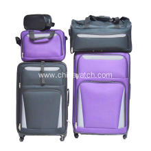 6 Pieces Expandable Upright Trolley Case Set