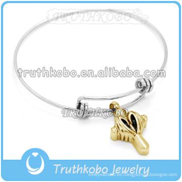 Venta al por mayor pulsera de cremación brazalete de alambre ajustable al por mayor pulseras de alambre trenzado