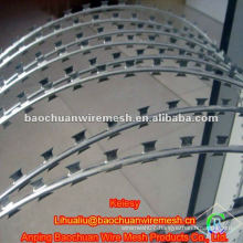 Galvanized and rot proof high quality razor barbed wire in store