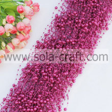 Fashion 3&8MM Artificial pearl garland for event & party supplies with various colors