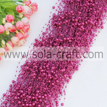 Fashion 3 & 8MM Garland pérola artificial para eventos e fontes do partido com várias cores
