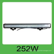 La alta calidad CE y ROHS 252W DC10-30V IP68 llevó la barra rígida del coche, 3 años de garantía