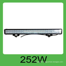 High quality CE&ROHS 252W DC10-30V IP68 led car rigid bar,3 years warranty