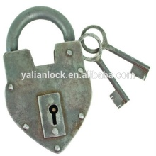 New Product Wholesale different heavy type Antique Reproduction Heart Padlock