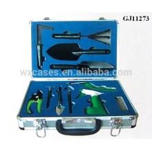 boîte à outils en aluminium solide avec mousse personnalisé insérer à l'intérieur