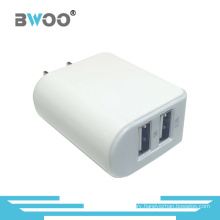 Dual USB Charger with Us Plug for Mobile Phone
