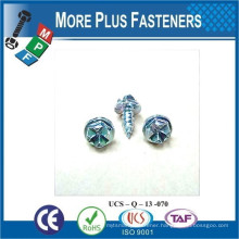 Made in Taiwan Castellated Hexagon Head Serrated Washer Button Head Phillips Flat Countersunk Head Cross Recess Tapping Screw