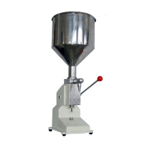 Small Manual Single Nozzle Liquid and Paste Bottle Filling Machine for Shampoo and Oil