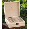 25 bottles customizable pine wood essential oil box for 5-15 ml glass dropper with logo