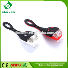 New silicon safety warning light 2 LED power bike light