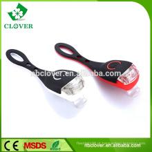 Nova luz de advertência de segurança de silício 2 luz de bicicleta de alimentação de LED