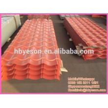 Chapa de acero de construcción / corrugación panel de acero / panel de techo pintado