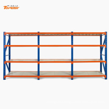 Powder coated medium duty steel boltless goods shelf
