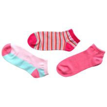 Модные женские носки из хлопка с цветовой окраской (afc-03)
