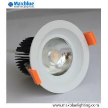 Hole 95 mm CREE COB LED plafonnier avec 10 lentille de 23 degrés