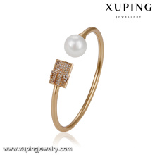51719 xuping simple brazalete de oro de diseño, brazalete de perlas de moda