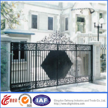 Elegante puerta de guardia de hierro forjado de alta calidad