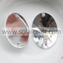 Shinny Plastic Crystal facettierte ovale Perlen Dekoration
