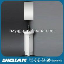Slim Floor Standing PVC White Space Saver Petits meubles de salle de bains