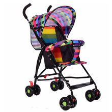 Cochecito de bebé plegable portátil de cuatro ruedas cochecito de bebé
