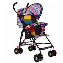 Carrinho de bebê dobrável portátil quatro rodas carrinho de bebê