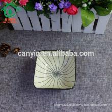 OEM Porzellan quadratischen Großhandel billig Salat Keramik Suppe Schüssel