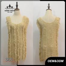 Robe asymétrique à manches longues pour femme