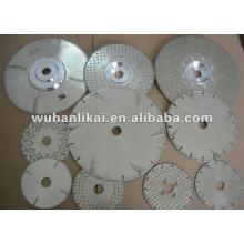 cuchilla de corte circular electrochapada de diamante plano de mármol