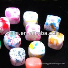 multicolored acrylic plastic beads fit pendants decoration