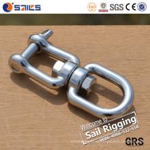 Rigging Hardware Giratorios de cadena de ojo y mandíbula de acero inoxidable