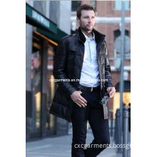 Man's Long Style Real Leather Jacket, EU Style Jacket (CML5005)