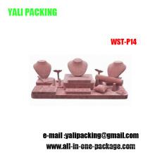 Venta al por mayor de la fábrica de la exhibición de la joyería del MDF de la PU de Guangzhou Rose (WST-P14)
