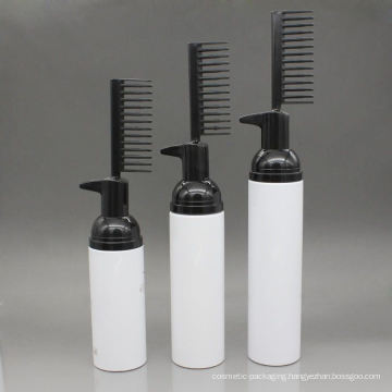 Plastic Foam Pump Bottle, Small Foam Pump Bottle with a Comb (FB10)