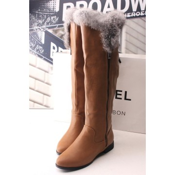 Latest Fashion Design High Heels Lady Boots with Zipper