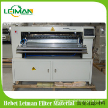 Multiple layer filter material paper or non-woven fabric knife pleating machine