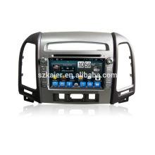 Quad core dvd lecteur pour voiture, wifi, BT, lien miroir, DVR, SWC pour Hyundai santafe 2010-2012 haut niveau