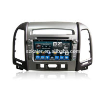 Quad core dvd player for car,wifi,BT,mirror link,DVR,SWC for Hyundai santafe 2010-2012 high level