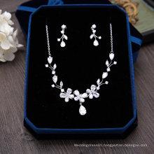 Wedding Bridal Silver Crystal Pearl Rhinestone Necklace