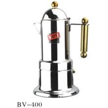 4cup Gold Acier inoxydable Moka Espresso Coffee Maker