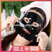 Masque facial d'hydrogel noir d'emballage fait sur commande avec le meilleur prix