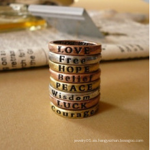 Anillos para Mujeres Lovely 8X Retro Wish Letters Hot Couple Rings