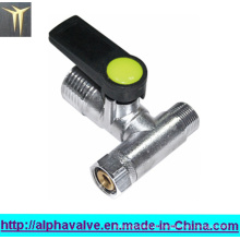 Válvula de bola de latón enchapado en níquel Mini (a 0200)