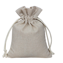 Custom color burlap bag cotton drawstring
