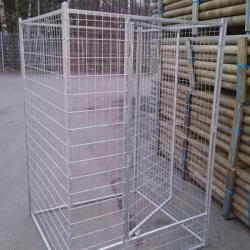 Good quality Galvanized modular dog kennel