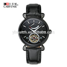 Japan movement mens luxury skeleton automatic watch stainless steel