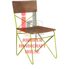 Cross Iron Dining Chair