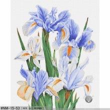 Carreaux de mosaïque de peinture moderne art iris bleu