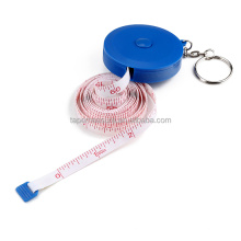 Gift Under 1 Dollar Branded Personalized Logo Measuring Kids Height Retractable Round Blue Tape Measure Holders
