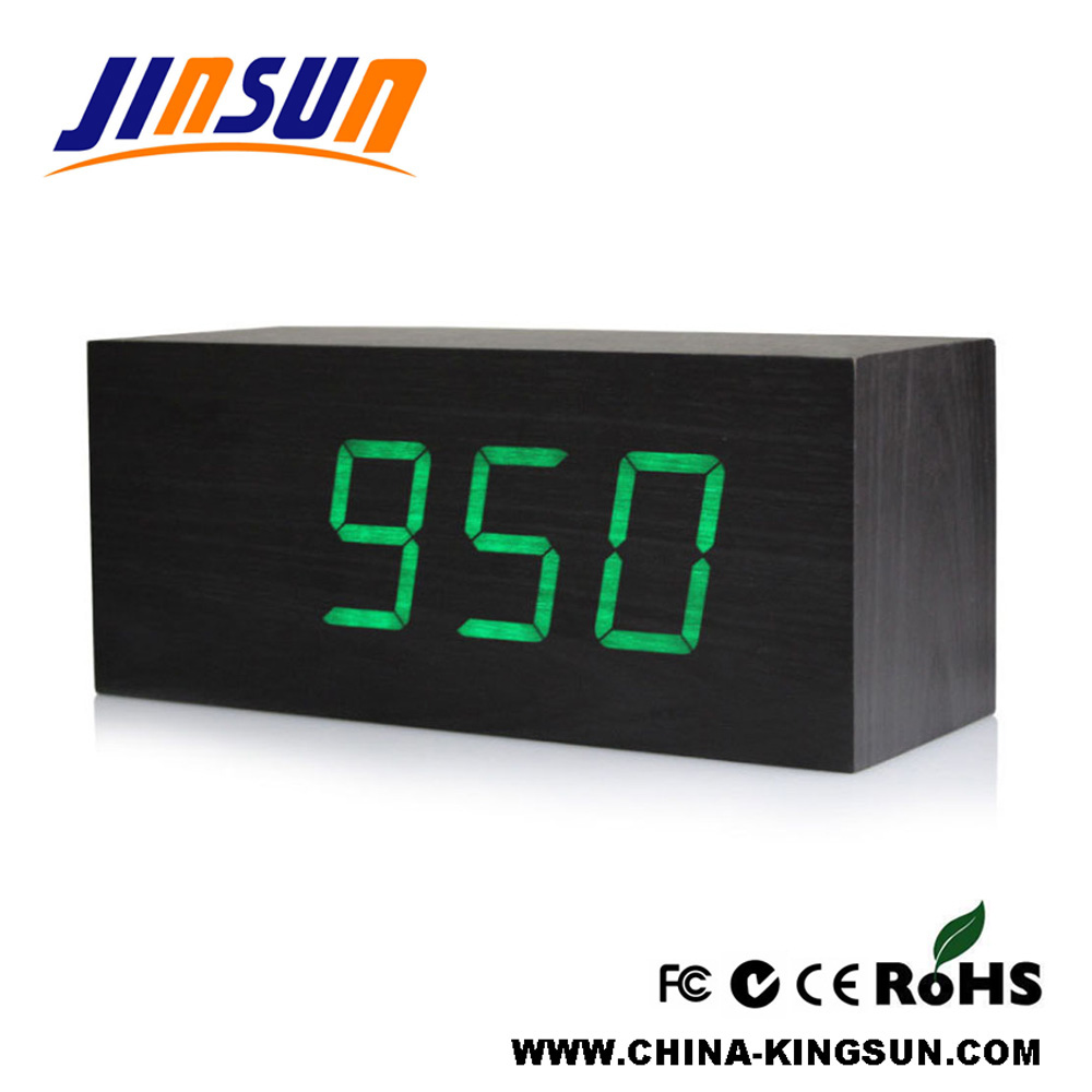 Decorative Wooden Table Led Clock Living Room Artwork